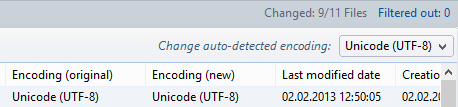 Correct the auto-detected encoding